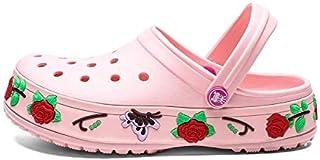 LSWL Crocks Shoes Male Mens Shoes Crocse Sandals Sandalias Summer Shoes Sandalen Slippers Sandalet Hombre Sandali Croc Clogs New (Color : Pink, Shoe Size : 39)