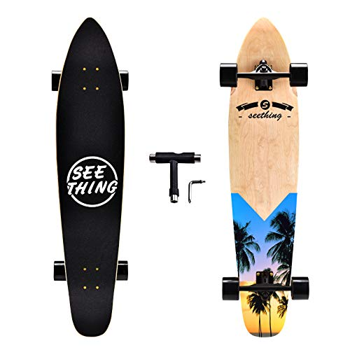 seething 42 Inch Longboard Skateboard Complete Cruiser,The Original Artisan Maple Skateboard Cruiser for Cruising, Carving, Free-Style and...