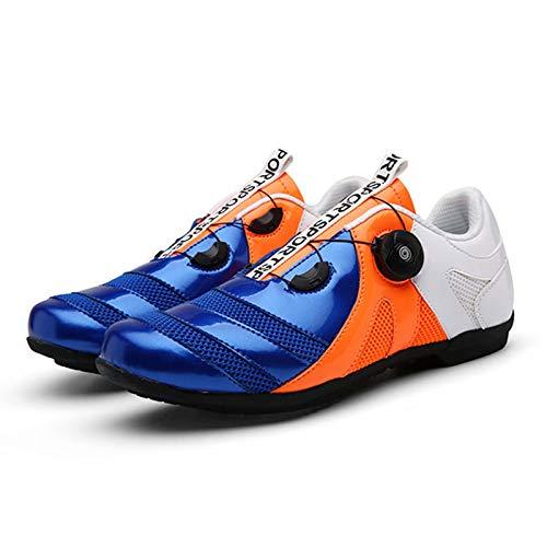 Zapatillas de Ciclismo Antideslizantes, Zapatillas de Bicicleta de montaña y Carretera de Fibra de Carbono Transpirables, Zapatillas Deportivas asistidas sin Bloqueo