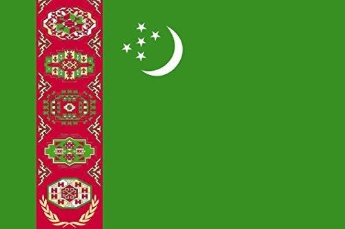 U24 Aufkleber Turkmenistan Flagge Fahne 8 x 5 cm Autoaufkleber Sticker