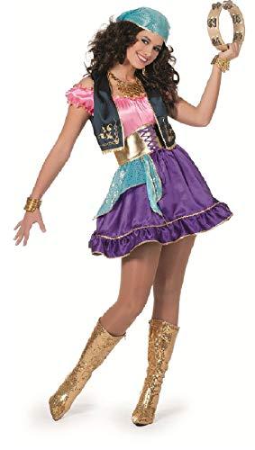 W4640-46 - Disfraz de pirata para mujer, multicolor, talla 46