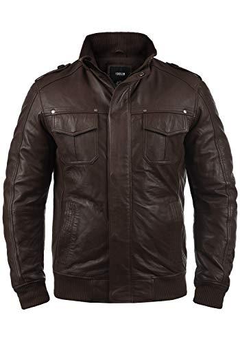 !Solid Camash - Chaqueta de Cuero para Hombre, tamaño:M, Color:Brown (5066)