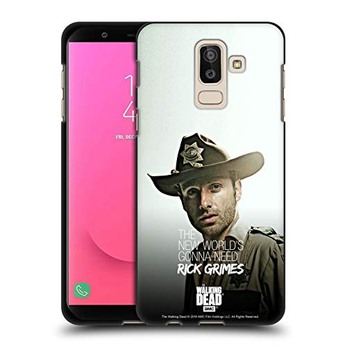 Head Case Designs Offizielle AMC The Walking Dead Hut Von Dem Stellvertreter Rick Grimes Erbschaft Schwarze Soft Gel Handyhülle Hülle Huelle kompatibel mit Samsung Galaxy J8 (2018)