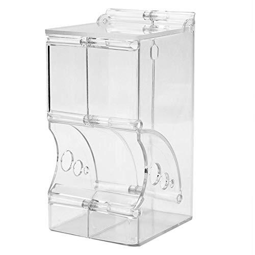 Demiawaking Distributore Automatico Cibo per Criceti Dispenser Cibo in Plastica Trasparente Dispenser per Alimenti per Porcellini d'India, Cavie, Criceti, Roditori Piccoli Animali (Stile 1)