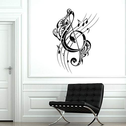 Vinyl muursticker noot muziek cool creatieve piano toetsenbord home decoratie slaapkamer woonkamer concert muurschildering