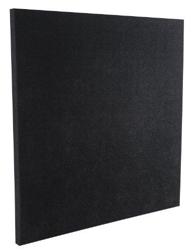 Auralex Acoustics SonoLite Acoustic Absorption Panel, 2' x 2' x 1' Thick, 1 Panel, Black