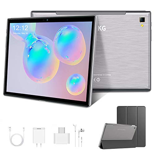 Tablet Touchscreen 10 Zoll, Tablet PC 4G/WiFi Android 9.0 Quad Core 4 GB RAM 64 GB ROM/128 GB Dual-SIM, Akku 8000 mAh, drei Kameras Bluetooth/GPS/OTG 10.1 Tablet