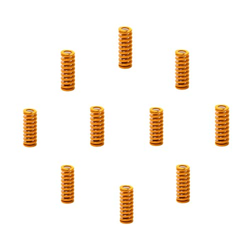 Adiyer 10 Pcs 8mm OD 20mm Length Compression Mould Die Springs for 3D Printer Ender 3 Stock Bed Leveling, Light Load