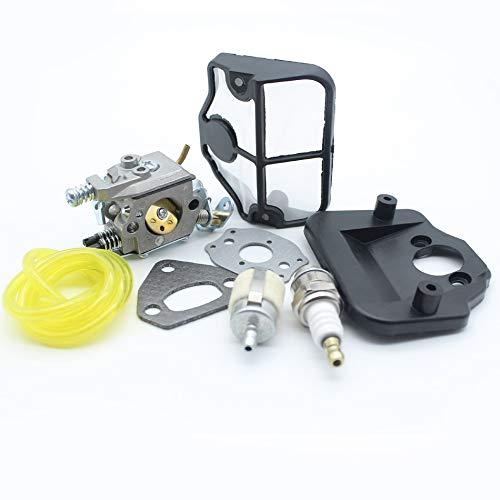 NAWQK Kit de reparación de la Manguera de la Manguera del Filtro de Combustible de Aire de carburador de carburador Fit para Husqvarna 136 137 141 142 36 41 Piezas de Motosierra