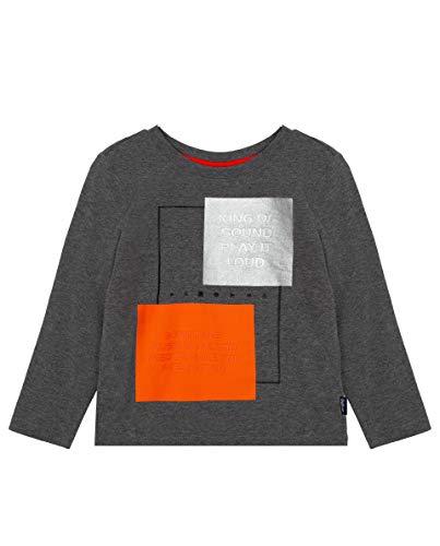 GULLIVER Jungen Langarmshirt Kinder Shirt Sweatshirt Grau Baumwolle 5 Jahre