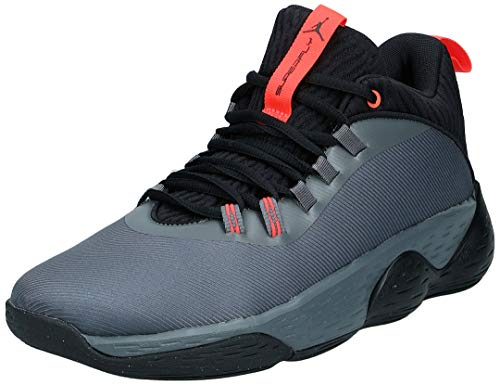 Nike Herren Jordan Super.Fly MVP Low Basketballschuhe, Mehrfarbig (Iron Grey/Black/Bright Crimson 001), 43 EU