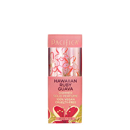Pacifica Hawaiian Ruby Guava Shimmer Solid Perfume, 0.25 Ounce