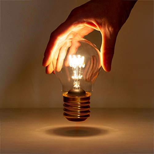 Suck UK Bombilla inalámbrica USB lámpara de mesa   Forma de bombilla de filamento   Luz nocturna decorativa portátil   Iluminación de estado de ánimo