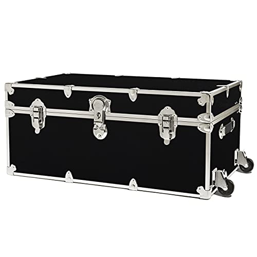 """Rhino Trunk & Case Camp & College Trunk with Removable Wheels 30""""x17""""x13"""" (Black)"""