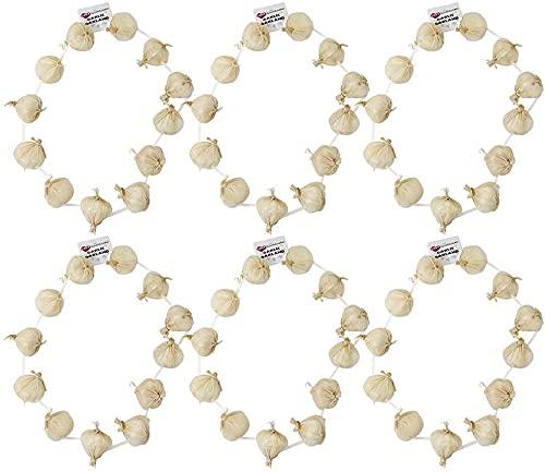 0207VP8HPJA ILoveFancyDress Lot de 6 Colliers de gousses d'ail pour célébrer Le 14 Juillet