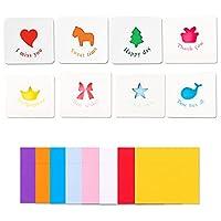 ミニメッセージカード かわいいカード グリーティングカード 封筒と封印シール付き 24枚入り