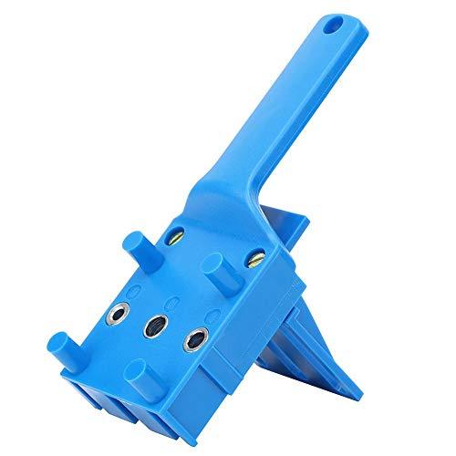 Alinory Taladre Agujeros Rectos, Herramientas plásticas para Trabajar la Madera, perforación de Alta eficiencia para perforar Las Placas(Blue)