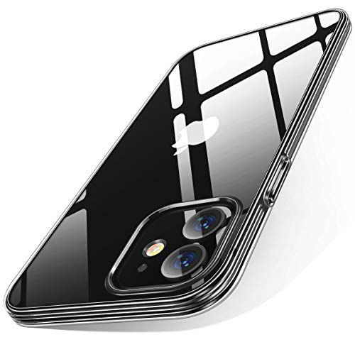iPhone 11 Case, Youmixx Crystal Clear [ Military-Grade Drop Tested ] [ 10X Anti-Yellow ] Shockproof Soft TPU Rubber Cover Clear Case for iPhone 11