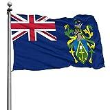 ZHYY Flag of The Pitcairn Islands Home Yard Garden Farmhouse Sign,Christmas Outdoor Decor 4x6 ft Black