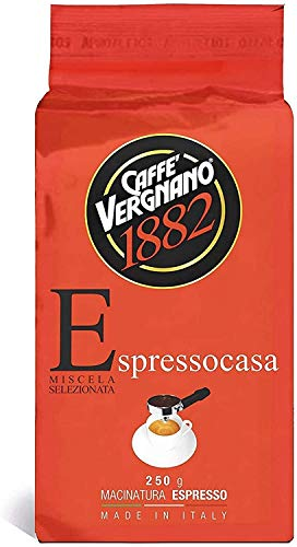 Vergnano Espresso Casa - 12 sacchetti di caffè macinato da 250 gr