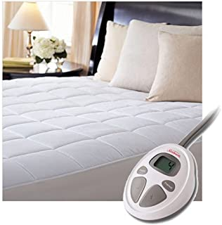 Sunbeam Premium Luxury Quilted Heated Electric Mattress Pad - Queen Size