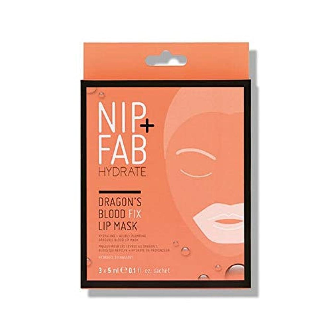グリットピービッシュ高価な[Nip & Fab ] + Fabドラゴンの血修正リップマスク5ミリリットルニップ - NIP+FAB Dragons Blood Fix lip Mask 5ml [並行輸入品]