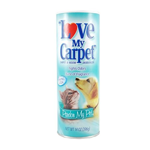 LOVE MY CARPET 2-in-1 Carpet & Room Deodorizer (Pardon My Pet, 2-PACK)