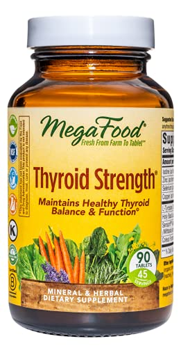 MegaFood, Thyroid Strength, Supports Thyroid Health, Mineral and Herbal Supplement with Herbs, 90 tablets (45 servings)