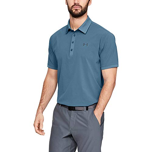 Under Armour Playoff Vented Polo Chemise Homme, Bleu, M