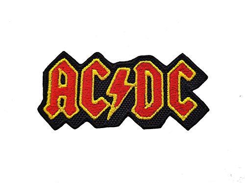 CoolPart - Parche bordado, diseño de AC/DC, aplicación con plancha, diseño de grupos de rock y heavy metal, perfecto como regalo
