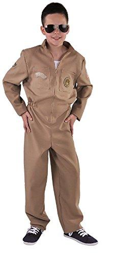 narrenkiste M215065-36-176 beige Kinder Junge Piloten Jetfighter Overall Gr.176