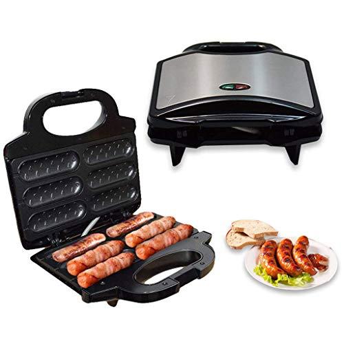RHSMP Elektrische Hot Dog Toaster Grillwurst Maschine Automatische Temperaturregelung Antihaft-Platte Für Familie Gesundheit Grill Haushalt Frühstück Maschine