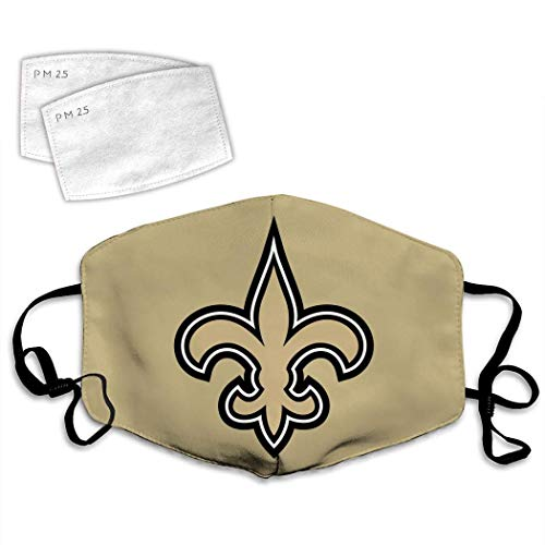 New Orleans Saints Logo Washable Face Mask Reusable andadjustable ear loops made in USA