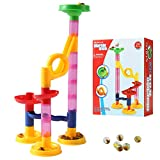 Marble Run Toys Gifts for Age 3 4 5 6 Year Old Boys Girls Kids Toddlers, Marble Maze Building bulk Marble...