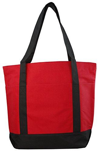 Large Daily Poly Zippered Tote Bag