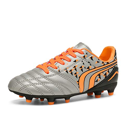 DREAM PAIRS Little Kid 160860-K Neon Green Black Royal Soccer Football Cleats Shoes - 1 M US Little Kid
