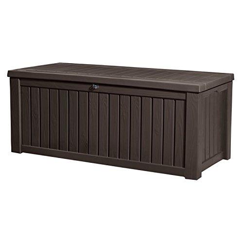 Keter Kissenbox Rockwood, braun, 570L, 155cm - 2