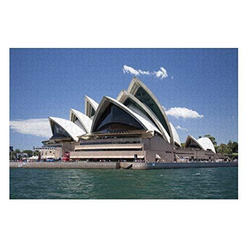 Sydney Opera House Exterior, Sydney, New South Puzzles für Erwachsene, 500 Teile Kinder Puzzles Spiel Spielzeug Geschenk für Kinder Jungen und Mädchen, 38,1 x 50,8 cm