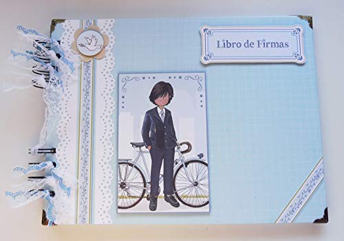 Libro de firmas primera comunión niño, recuerdos, fotos. Scrapbooking, scrap, scrapbook, comunión, fotos, álbum de firmas -Hecho a mano, niño #11