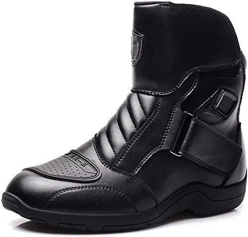 Knoijijuo Moto Stivali Impermeabili Boot Motorino Che Corre La Protezione Blindato sulla Tratta Comodi Brevi Stivaletti