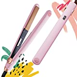 """TYMO Hair Straightener Iron, 2 in 1 Straightening and Curling 1"""" Nano Titanium Flat Iron, 3D Floating Plates with Swaying Motion Control, 32 Heating Options up to 450°F, Ideal Gift for Women"""