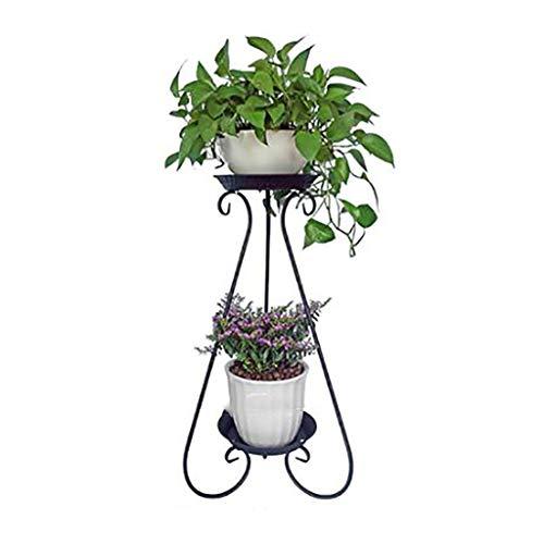 Porte-fleurs Art de fer Multicouche de style européen Sur pied Au sol pour intérieur et extérieur Porte-pots de fleurs 3 couleurs (Couleur : B, taille : 36 * 80cm)