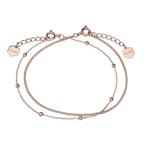 CLUSE Women's Essentielle Rose Gold Plated Brass Set of Two Fine Bracelets CLJ10010