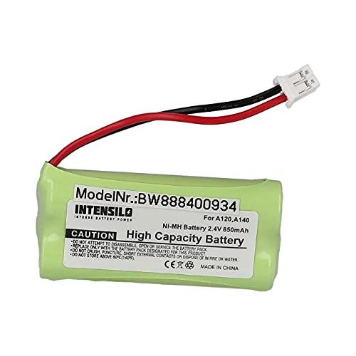 INTENSILO Batería Recargable Compatible con T-Com Sinus 100 teléfono Fijo o inalámbrico (850 mAh, 2,4 V, NiMH)