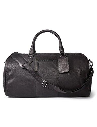 LEATHER ARCHITECT- 100% Leather Men's Duffel Bag-Black