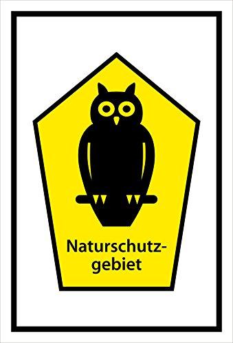 Melis Folienwerkstatt Schild Naturschutz-Gebiet - 15x10cm - 3mm Aluverbund – 20 VAR S00359-035-A