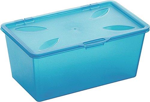 Rotho 1756906644 Aufbewahrungsboxen-Set Snappy aus Kunststoff (PP), 3er Set mit Scharnierdeckel, zur Aufbewahrung von Kleinteilen in Büro, Kinderzimmer, Badezimmer etc., ca. 16.5 x 10.5 x 7 cm (LxBxH), blau