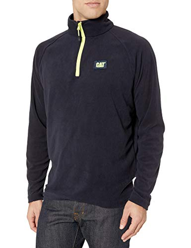 Caterpillar Men's Concord Fleece Pullover (Regular and Big Sizes), Navy, Large