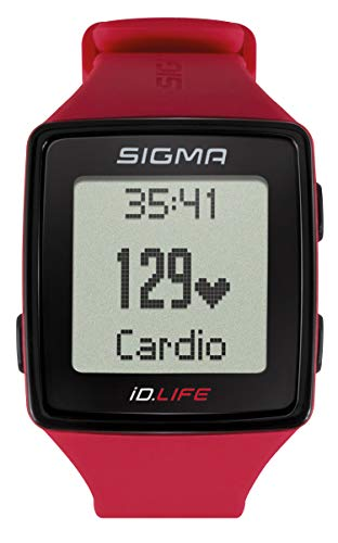 Sigma Sport Pulsuhr iD.LIFE rouge, Activity Tracker, Handgelenk-Pulsmessung, Rot