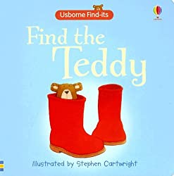 "Find the teddy, an affordable ""peek a boo"" type book. You find teddy in different places, the end is a goodnight sequence. Perfect for a bedtime story!"